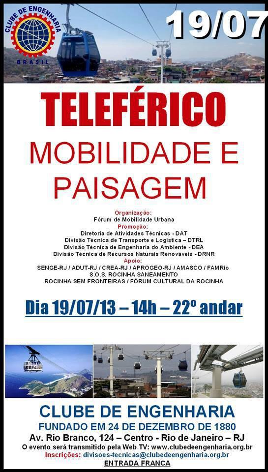 Teleférico Mobilidade e Paisagem
