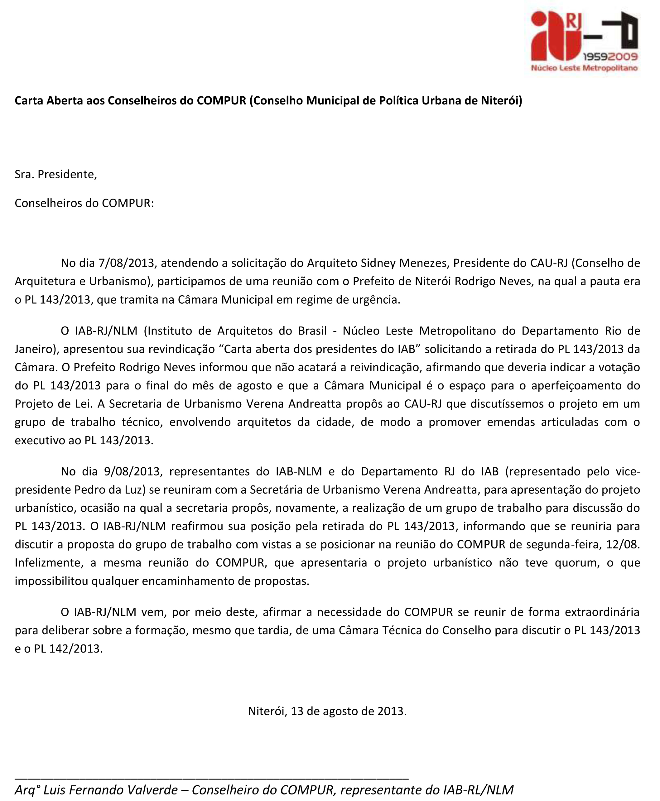 5cdf48539873a Carta Aberta do IAB Leste Metropolitano ao Conselho Municipal de ...