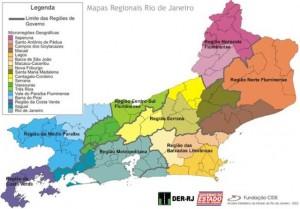 Mapa regional do RJ